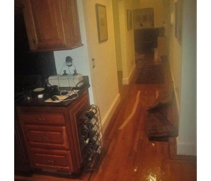 Flooded Hallway due to Heavy Rainstorm Before