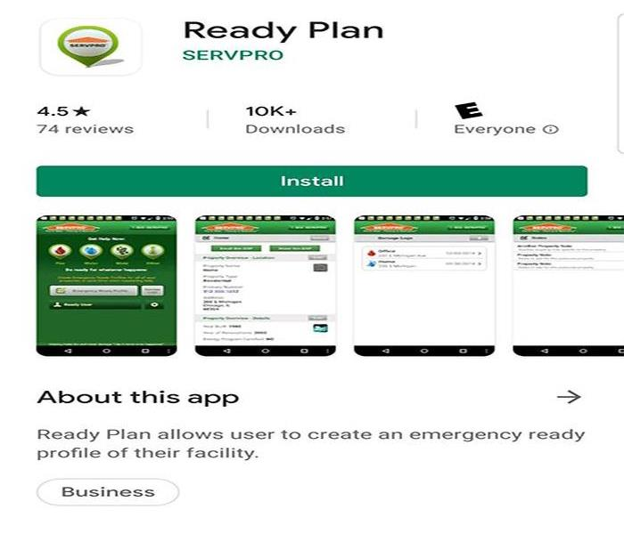 Ready Plan mobile device download page for android devices.